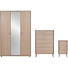 more details on Arvika 3 Piece 3 Door Wardrobe Package - Light Oak.