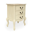 more details on Juliette 3 Drawer Bedside Table - Cream.