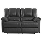 more details on Collection Diego Regular Leather Recliner Sofa - Black.