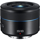more details on Samsung 45mm 2D/3D f/1.8 Telephoto Lens - Black.
