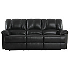 more details on Collection Diego Large Leather Recliner Sofa - Black.
