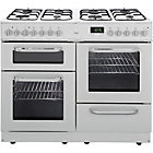 more details on Bush BCL100DFW Dual Fuel Range Cooker- White/Ins/Del/Rec.