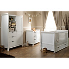 more details on Obaby Lincoln Sleigh 3 Piece Nursery Furniture Set - White.