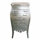 more details on Dauphine Tallboy Chest of Drawers - Silver Leaf.