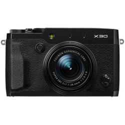 Fujifilm X30 12MP Digital Camera with 4x Optical Zoom - Black
