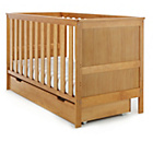 more details on Obaby Newark Cot Bed with Under Cot Drawer - Country Pine.