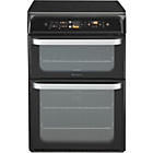 more details on Hotpoint Ultima HUI62T K Freestanding Cooker - Black