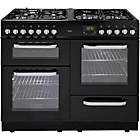 more details on Bush BCL100DFB Dual Fuel Range Cooker- Black/Ins/Del/Rec.