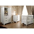 more details on Obaby Lincoln Mini Sleigh 3 Pc Nursery Furniture Set - White