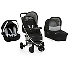 more details on Hauck Miami 4 Travel System - Caviar and Silver.
