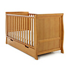 more details on Obaby Lincoln Sleigh Cot Bed - Country Pine.