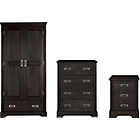 more details on Mendoza Pine 3 Piece 2 Door Wardrobe Package - Walnut Stain.