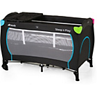 more details on Hauck Sleep'n Play Center Travel Cot - Black and Multicolour