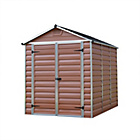 more details on Palram Skylight Plastic Amber Shed - 6x8ft.