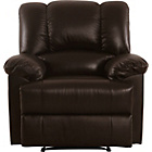 more details on Collection Diego Leather/Leather Eff Recliner Chair - Choc.