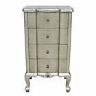 more details on Dauphine 4 Drawer Tallboy Chest - Silver Leaf.