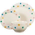 more details on 12 Piece Hand Painted Spotty Stoneware Dinner Set.