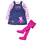 more details on Peppa Pig Girls' Top, Dress and Tights Set - 3-4 Years.