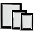 more details on Premier Housewares Photo Frames Set of 3 - Black and Silver.