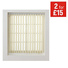 more details on HOME Vertical Blind Slats Pack - 122x137cm - Cream.