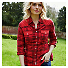 more details on Cherokee Women's Red Check Shirt.