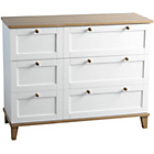 more details on Arcola 3 Drawer Chest - White.