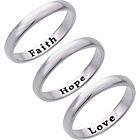 more details on Sterling Silver 'Faith Hope Love' Message Ring.
