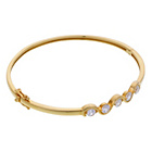 more details on 9ct Gold Plated Sterling Silver Cubic Zirconia Bangle.