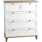 more details on Arcola 3 Plus 2 Drawer Chest - White.