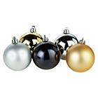 more details on Pack of 48 Christmas Baubles - Luxe