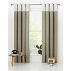 more details on HOME Dublin Unlined Eyelet Curtains - 117 x 137cm - Stone.