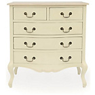 more details on Juliette 5 Drawer Bedside Chest - Cream.