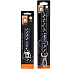more details on Petface Reflective Black Paws Medium Dog Collar and Lead Set