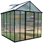 more details on Palram Glory Dark Grey Greenhouse - 8 x 8ft