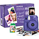 more details on Fujifilm Instax Mini 8 Camera with 10 shots - Purple.