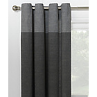 more details on HOME Dublin Unlined Eyelet Curtains - 117 x 183cm - Charcoal
