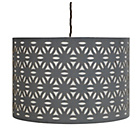 more details on Heart of House Hinto Laser Cut Pendant Shade - Grey.