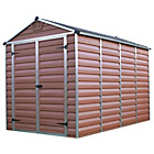 more details on Palram Skylight Amber Shed - 6x10ft.