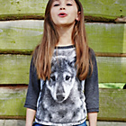 more details on Cherokee Girls' Wolf Raglan Top.