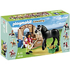more details on Playmobil Black Stallion with Stall.