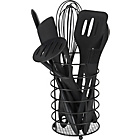 more details on HOME Silicone 8 Piece Utensils Set Black.