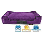 more details on Scruffs Milan Large Dog Memory Foam Box Bed - Purple.