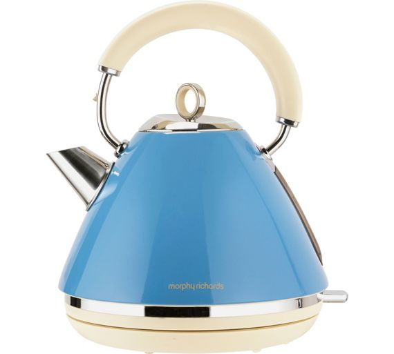 buy morphy richards accents pyramid kettle cornflower. Black Bedroom Furniture Sets. Home Design Ideas