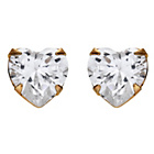 more details on Andralok 9ct Gold Cubic Zirconia Heart Stud Earrings.