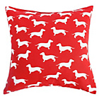more details on Dog Print Cushion - Red.