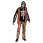more details on Mens Skeleton Hippy Costume Size L