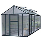 more details on Palram Glory Dark Grey Greenhouse Glory - 8x20ft.