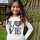 more details on Cherokee Girls' Slogan Love Top.