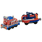 more details on Tomy Chuggington Calley Engine with Car.