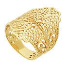 more details on 9ct Gold Plated Sterling Silver Flower Fashion Ring.